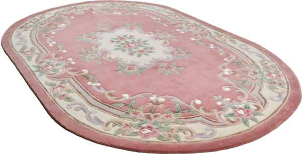 Ming 501 Aubusson in rosa oval Theko Classic