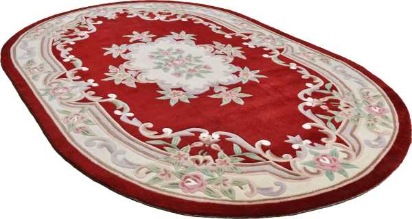 Ming 501 Aubusson in rot oval Theko Classic